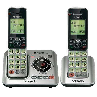 2-Handset Cordless Phone System with Caller ID and Call Waiting