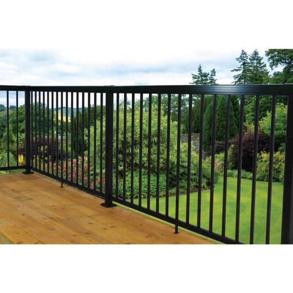 Vista Railing Systems Inc 2 In X 2 In X 42 In Textured Black Aluminum Mid Post Pb7470xb0y The Home Depot