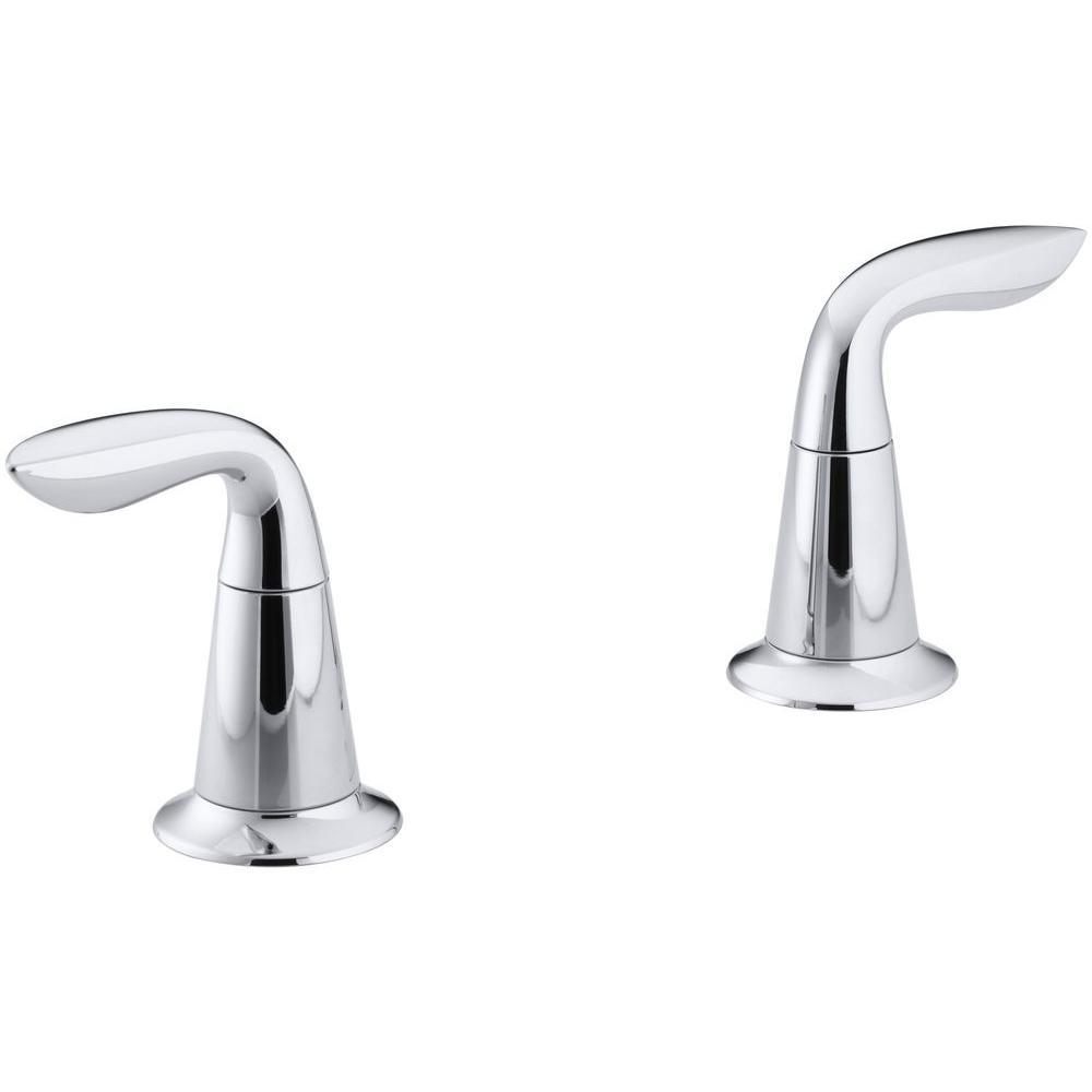Refinia 2-Handle Deck-Mount Bath Faucet Trim Kit in Polished Chrome (Valve