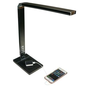 Ntw Airenergy 27 In 5 Way Led Black Desk Lamp W Usb Port