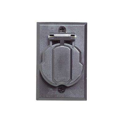 Black Replacement Electrical Outlet for Lamp Posts