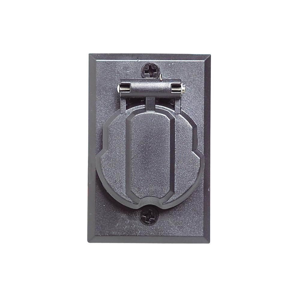 Design House Black Replacement Electrical Outlet For Lamp Posts
