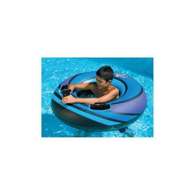 42 in. Assorted Colors Power Blaster Squirter Single Ring Pool Float with Attached Squirt Gun