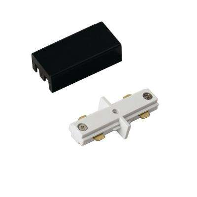 White and Black Linear Track Lighting Mini Straight Connector