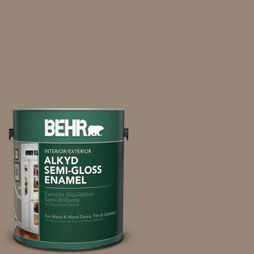 1 gal. #PPU5-6 Ethiopia Semi-Gloss Enamel Alkyd Interior/Exterior Paint