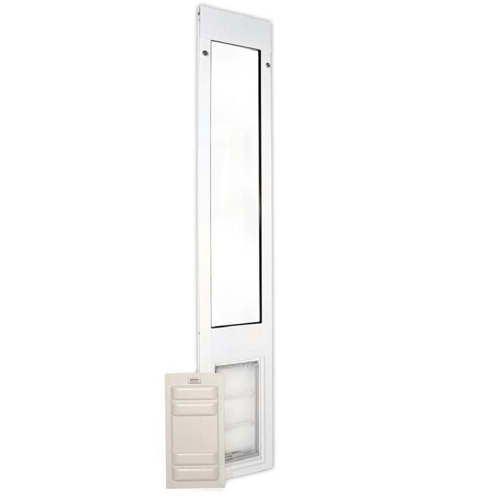 Endura Flap 10 in. x 19 in. Thermo Panel 3e Fits Patio Door 93.25 in. x 96.25 in. Tall in White Frame