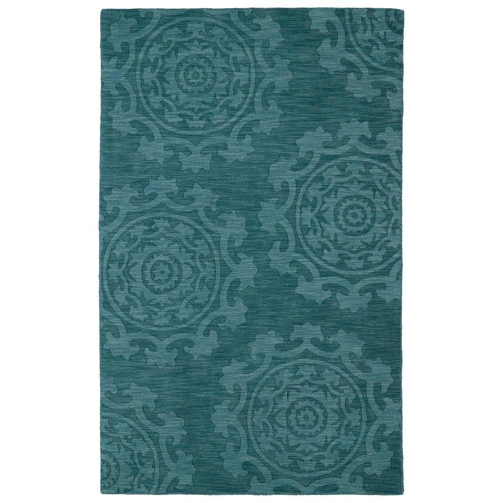 Kaleen Imprints Classic Turquoise 2 ft. x 3 ft. Area Rug