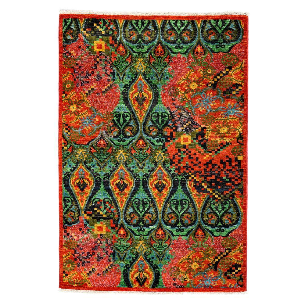 Darya Rugs Suzani Red 4 ft. 1 in. x 6 ft. 2 in. Indoor Area Rug
