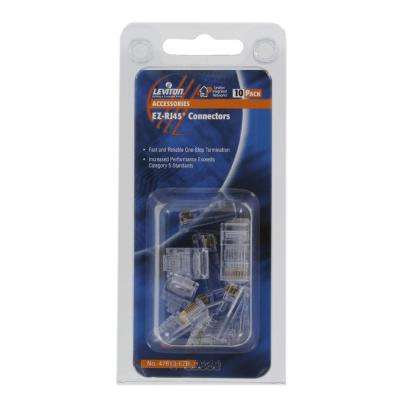 EZ-RJ45 Connectors, Clear (10-Pack)