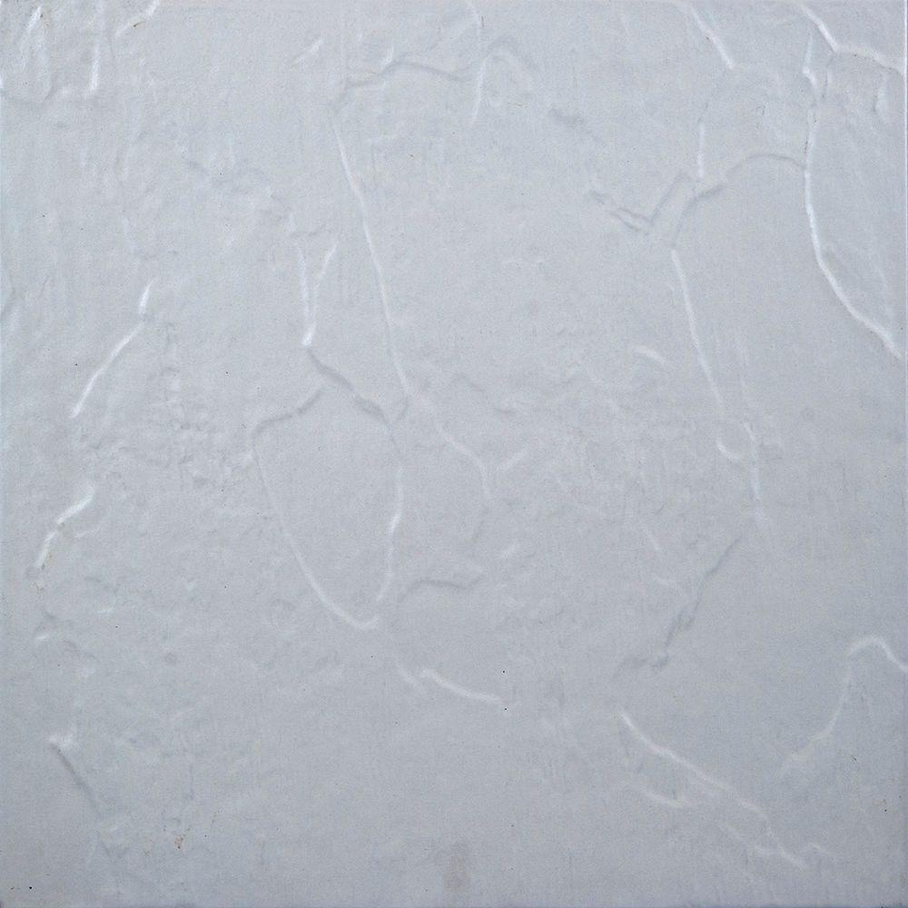 Textured White 18 In X Ceramic Floor Tile 15 4 Sq