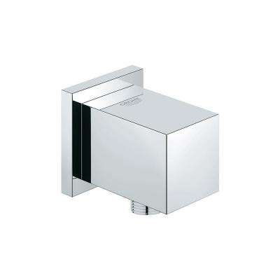 Euphoria Cube 1/2 in. Wall-Mount Supply Elbow in StarLight Chrome