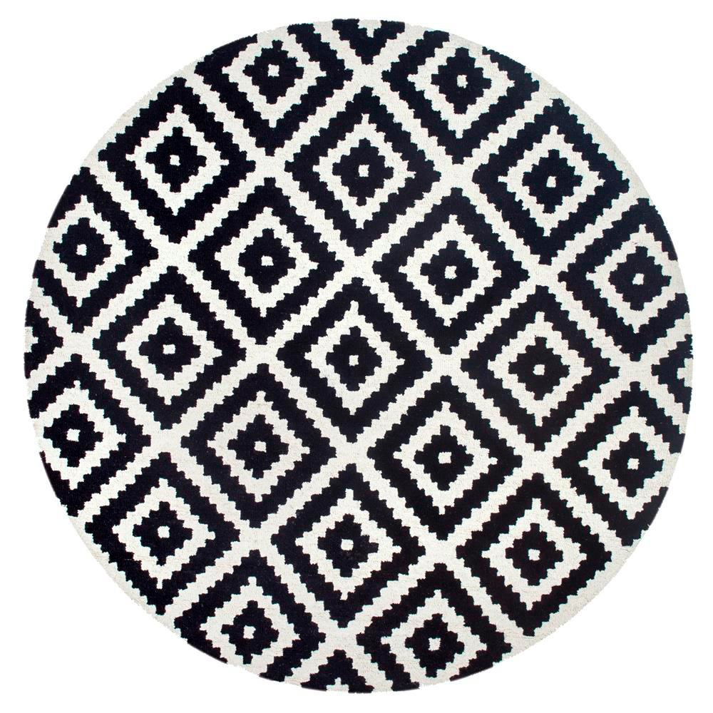 Nuloom Kellee Black 6 Ft Round Area Rug Mtvs174a 606r The Home Depot