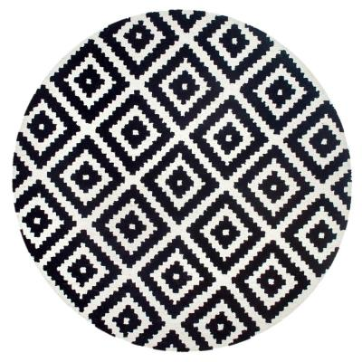 Kellee Contemporary Black 8 ft. x 8 ft. Round Rug
