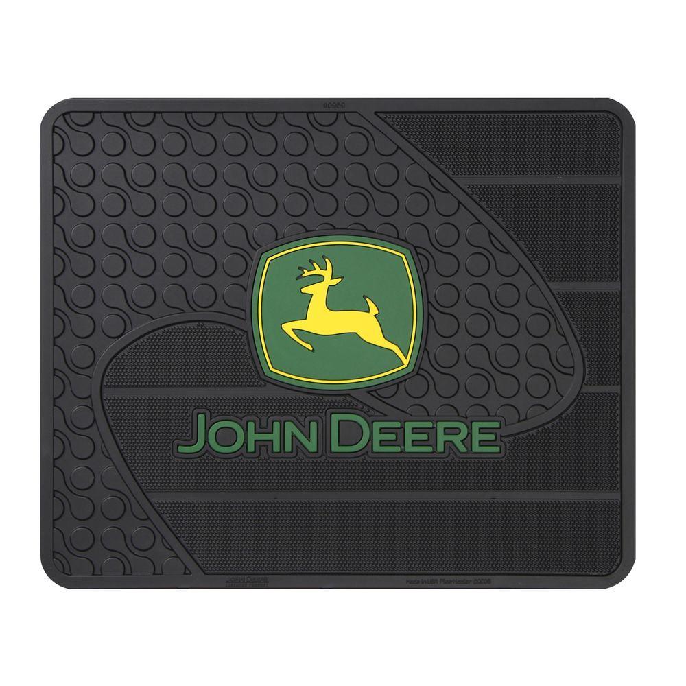 null John Deere Heavy Duty Vinyl 17 in. x 14 in. Utility Car Mat