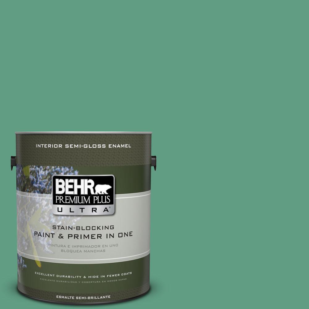 BEHR Premium Plus Ultra 1-gal. #480D-5 Scotch Lassie Semi-Gloss Enamel Interior Paint
