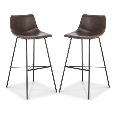 Paxton 29 in. Brown Bar Stool (Set of 2)
