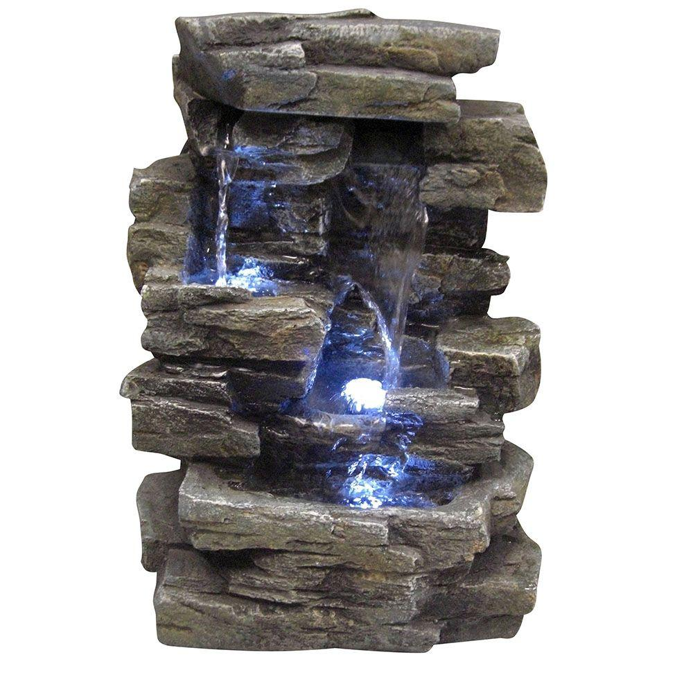 Alpine 13 in waterfall tabletop fountain win220 the for Waterfall fountain