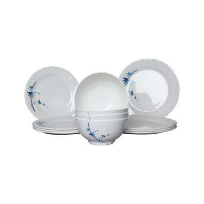 Blue Bamboo Dinnerware Set (12 Piece)