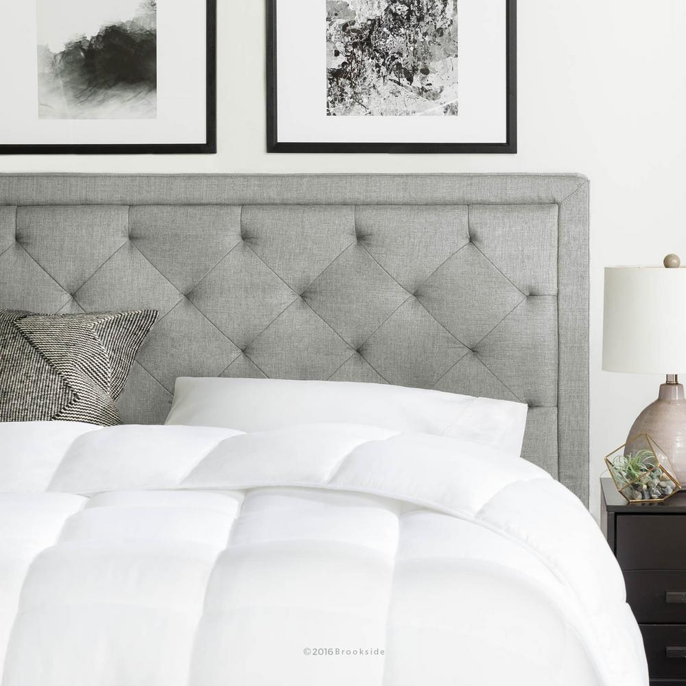 brookside upholstered stone full with diamond tufting headboard bsffredtsthb the home depot. Black Bedroom Furniture Sets. Home Design Ideas