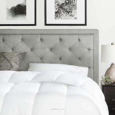 king bed frame with headboard. Upholstered Stone King With Diamond Tufting Headboard Bed Frame L