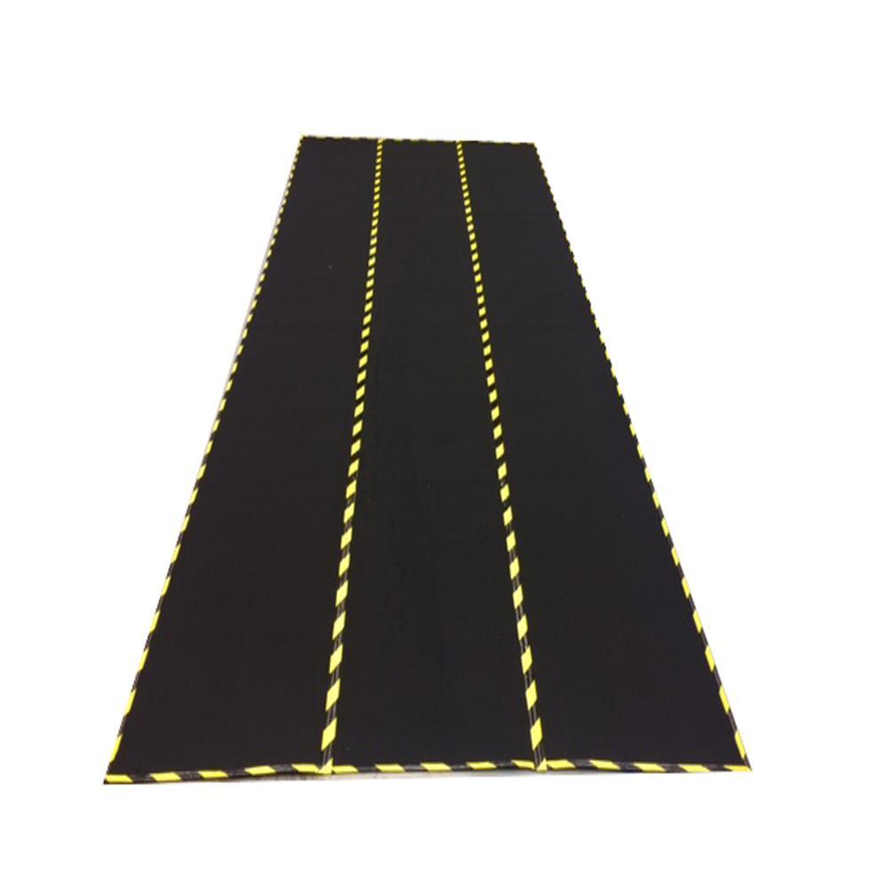 8 ft. W x 22 ft. L x 1/2 in. H Black Garage Flooring Mat, Full-Floor Size