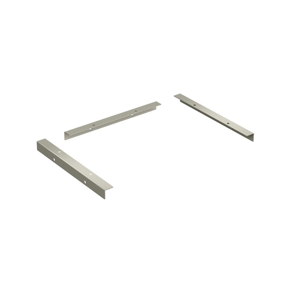 Closetmaid Style+ 11 In. D Satin Nickel Shelf Support Kit