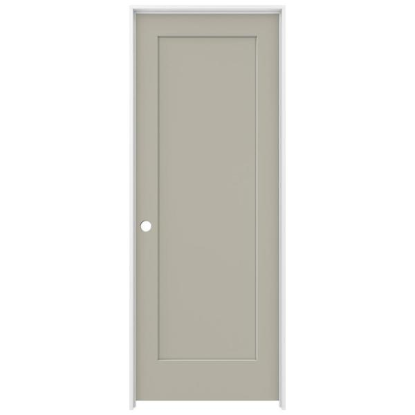 30 in. x 80 in. Madison Desert Sand Right-Hand Smooth Solid Core Molded Composite MDF Single Prehung Interior Door