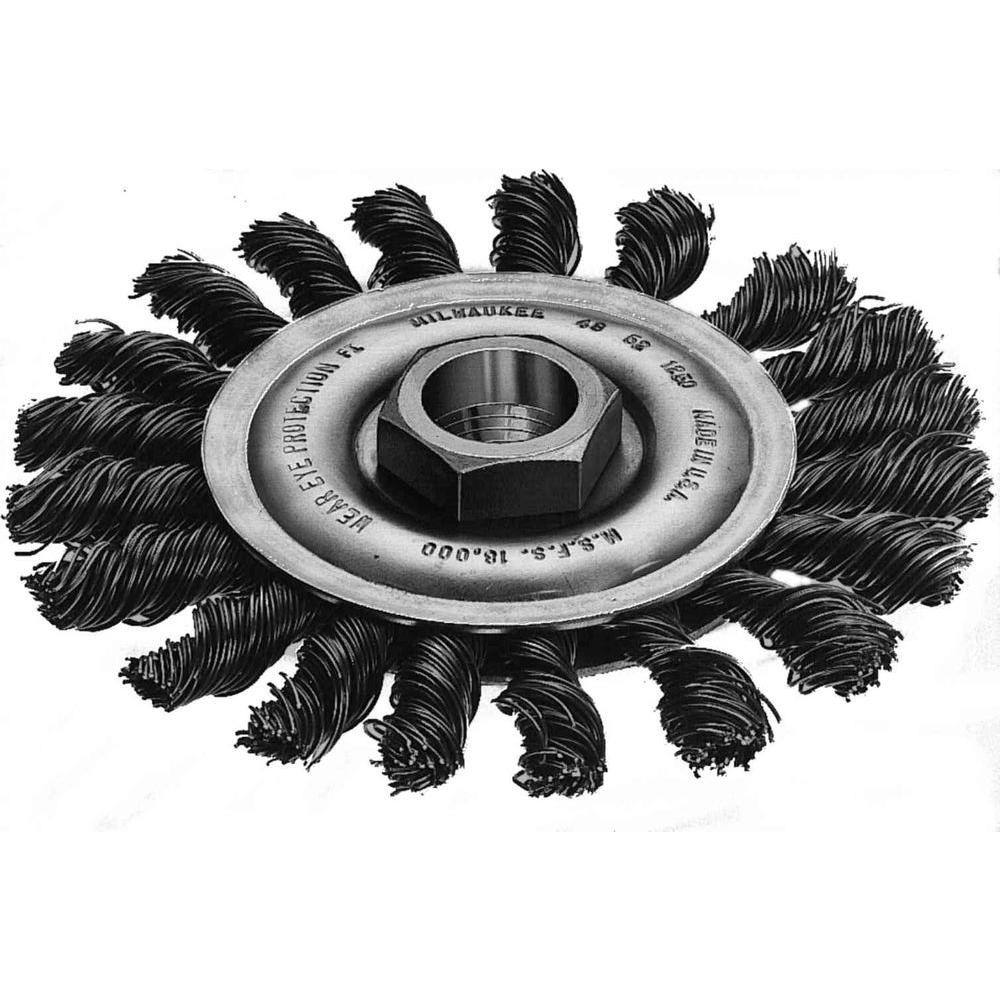 Milwaukee 4 in. Carbon-Steel Full-Cable Twist Wire Wheel-48-52-5030 ...