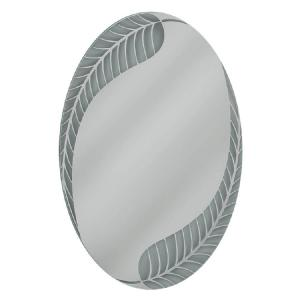 Deco Mirror 24 inch W x 36 inch H Palm Leaf Oval Mirror by Deco Mirror