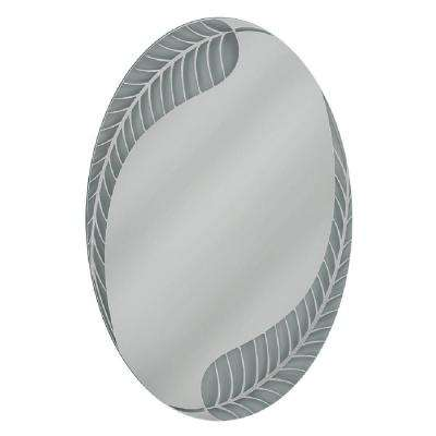 24 in. W x 36 in. H Palm Leaf Oval Mirror