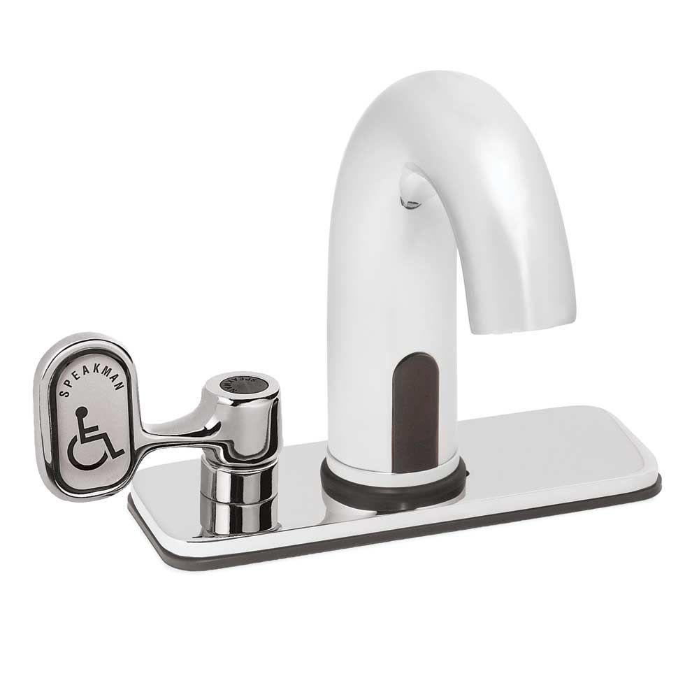 Speakman Sensorflo AC-Powered/Plug-In Touchless Lavatory Faucet in Polished Chrome-DISCONTINUED