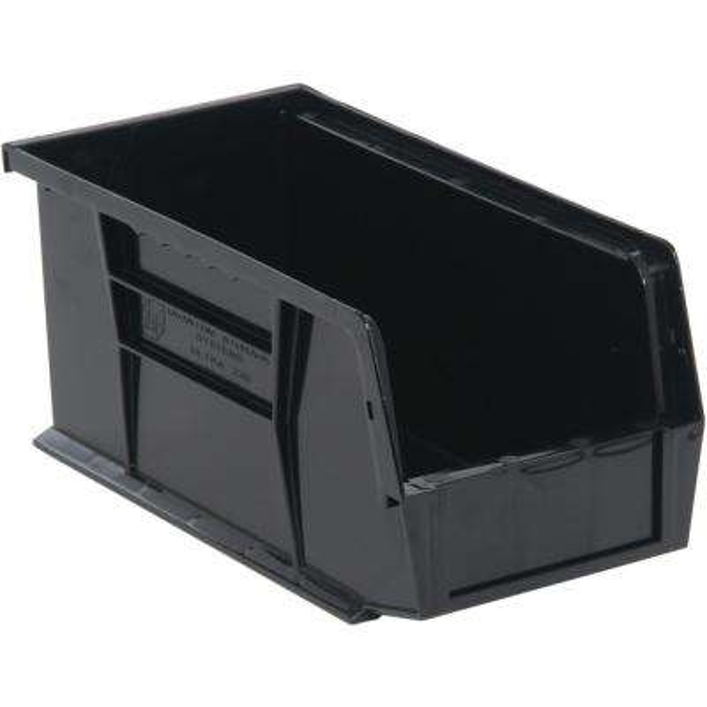 Ultra Series Stack and Hang 3.5 Gal. Storage Bin in Black (12-Pack)
