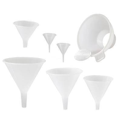 Multi-Purpose Plastic Funnel Set with Mini-Funnel and Canning Funnel (Set of 7)