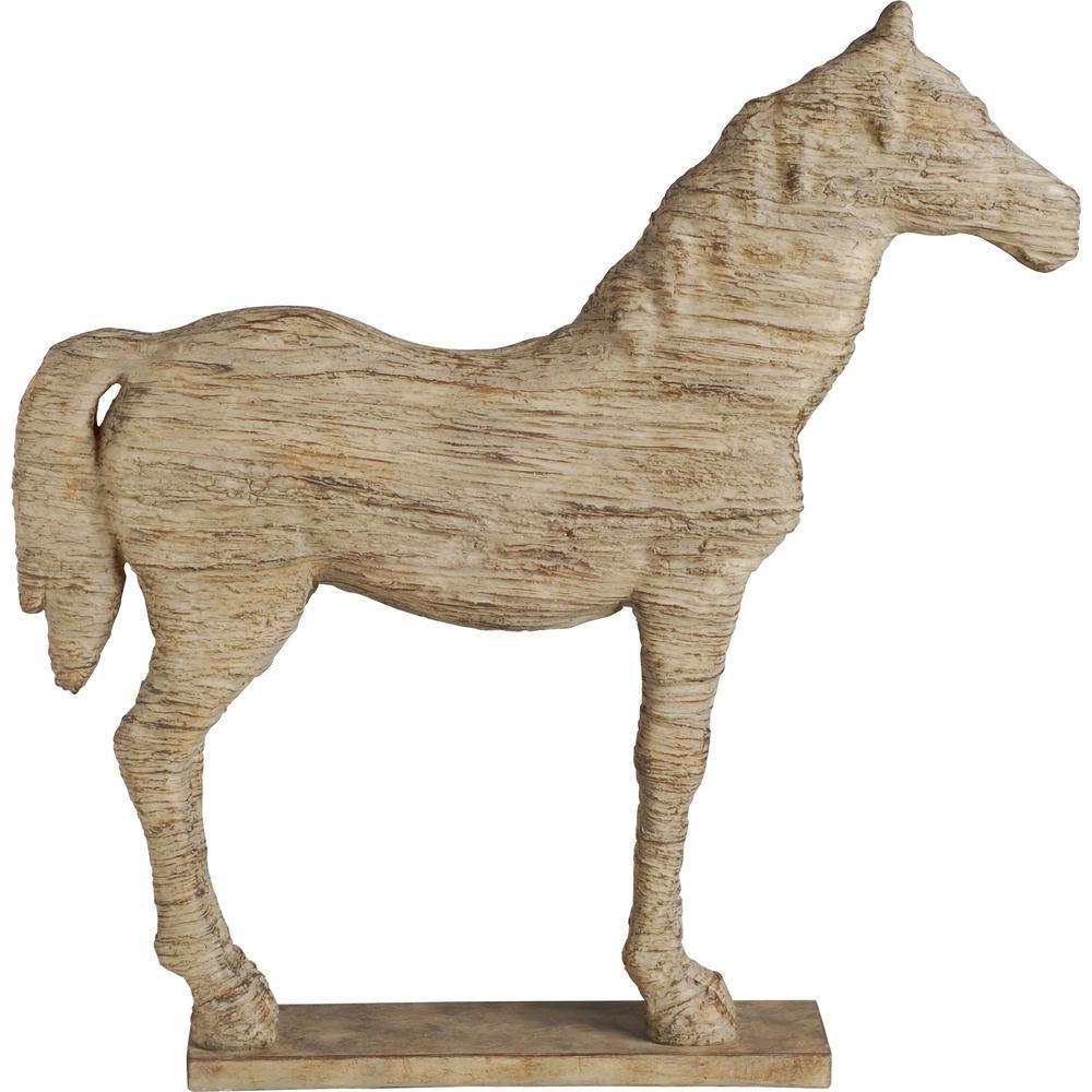 19.5 in. Polyresin Horse Decorative Sculpture