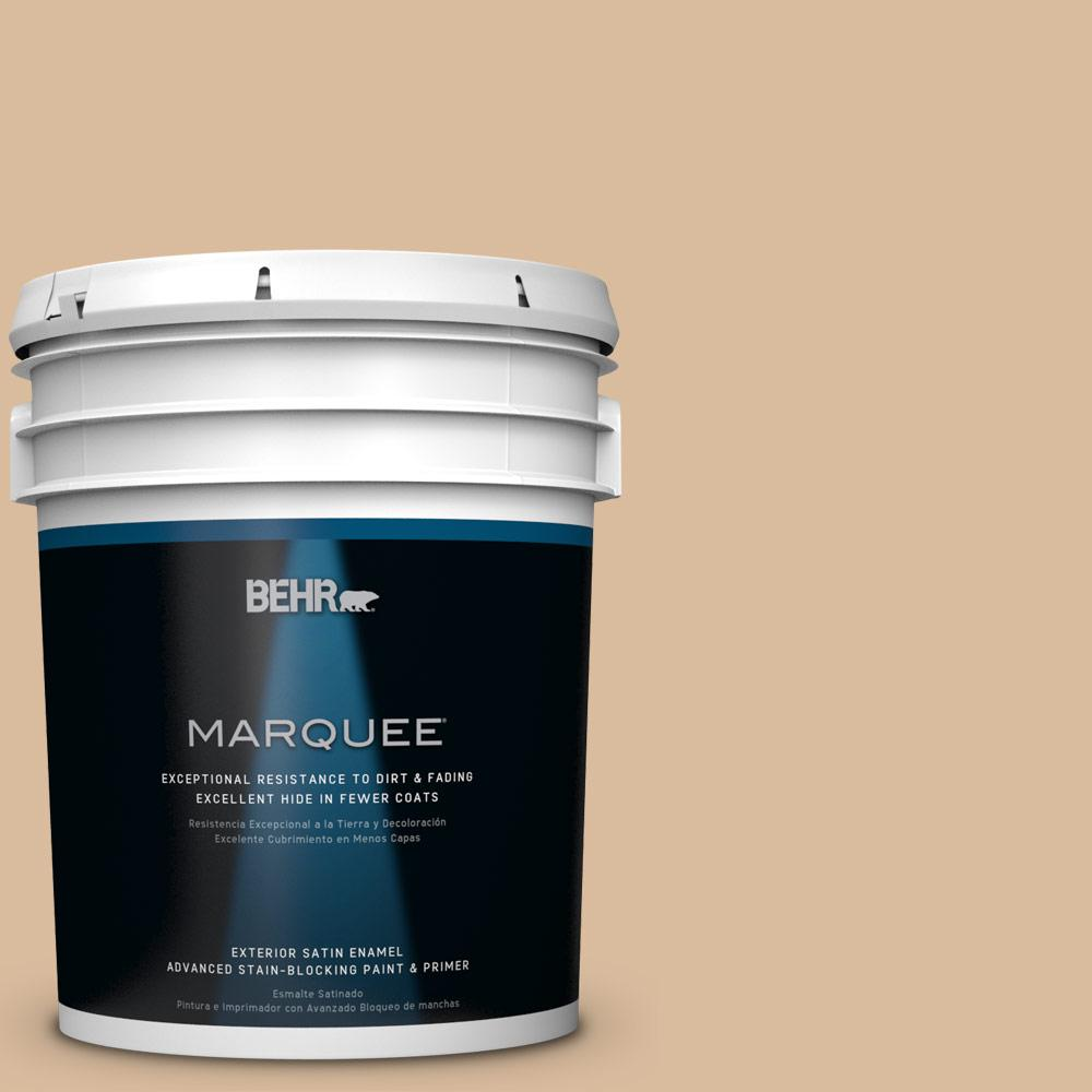 5-gal. #BXC-40 Soft Wheat Satin Enamel Exterior Paint