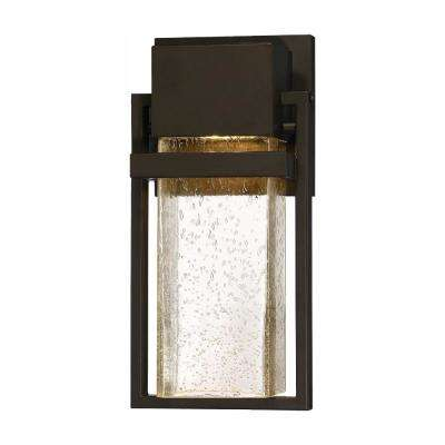 Fairbanks 10-Watt Rustique 12 in. Outdoor Integrated LED Wall Lantern Sconce