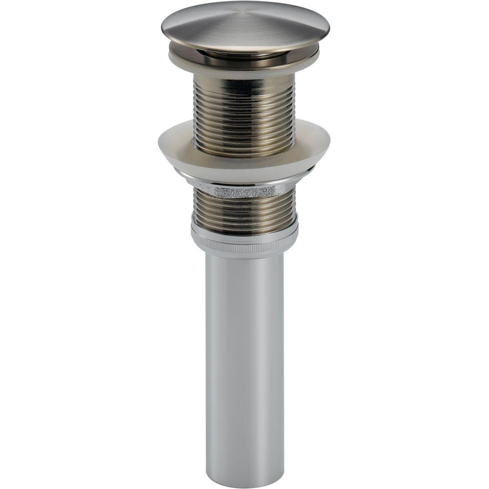 Delta Push Pop-Up Drain Assembly in Stainless Less with Overflow ...