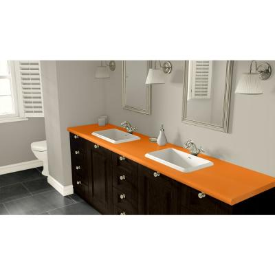4 ft. x 8 ft. Laminate Sheet in Orange Grove with Standard Matte Finish