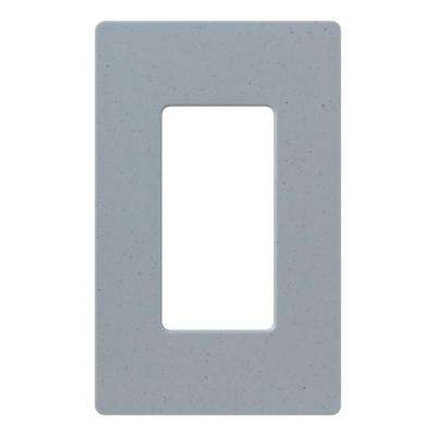 Claro 1 Gang Decorator Wallplate, Bluestone