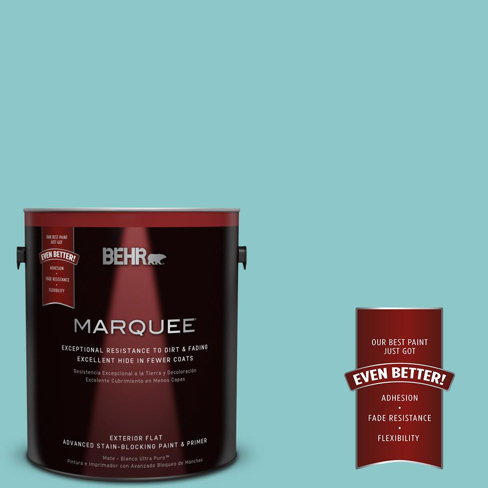 1-gal. #510D-4 Embellished Blue Flat Exterior Paint