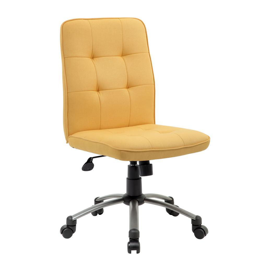 Boss Modern Pewter Yellow Office Chair