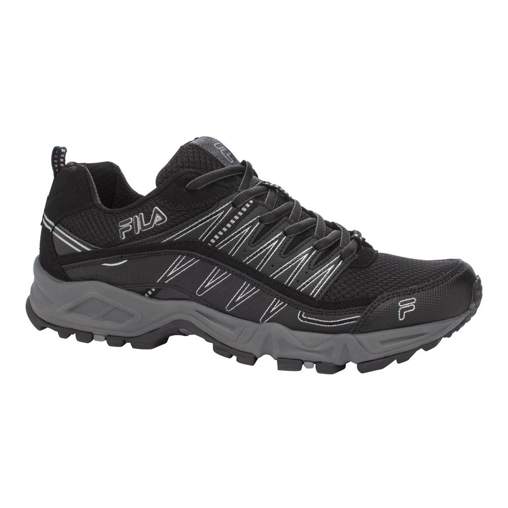 Fila Memory At Peak Men Size 11.5 Black Leather/Synthetic...