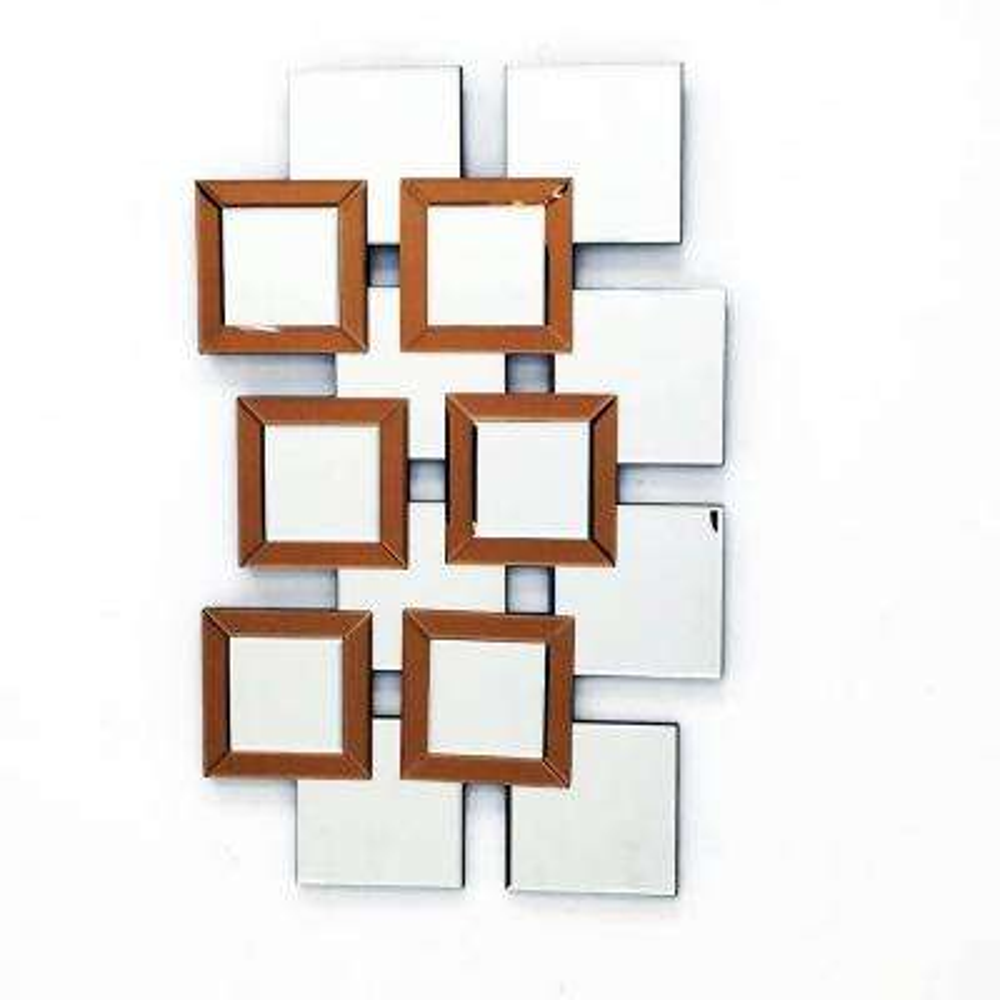 L'ARTISTE 37.5 in. L x 14 in. W Modern Mirror Wall Art