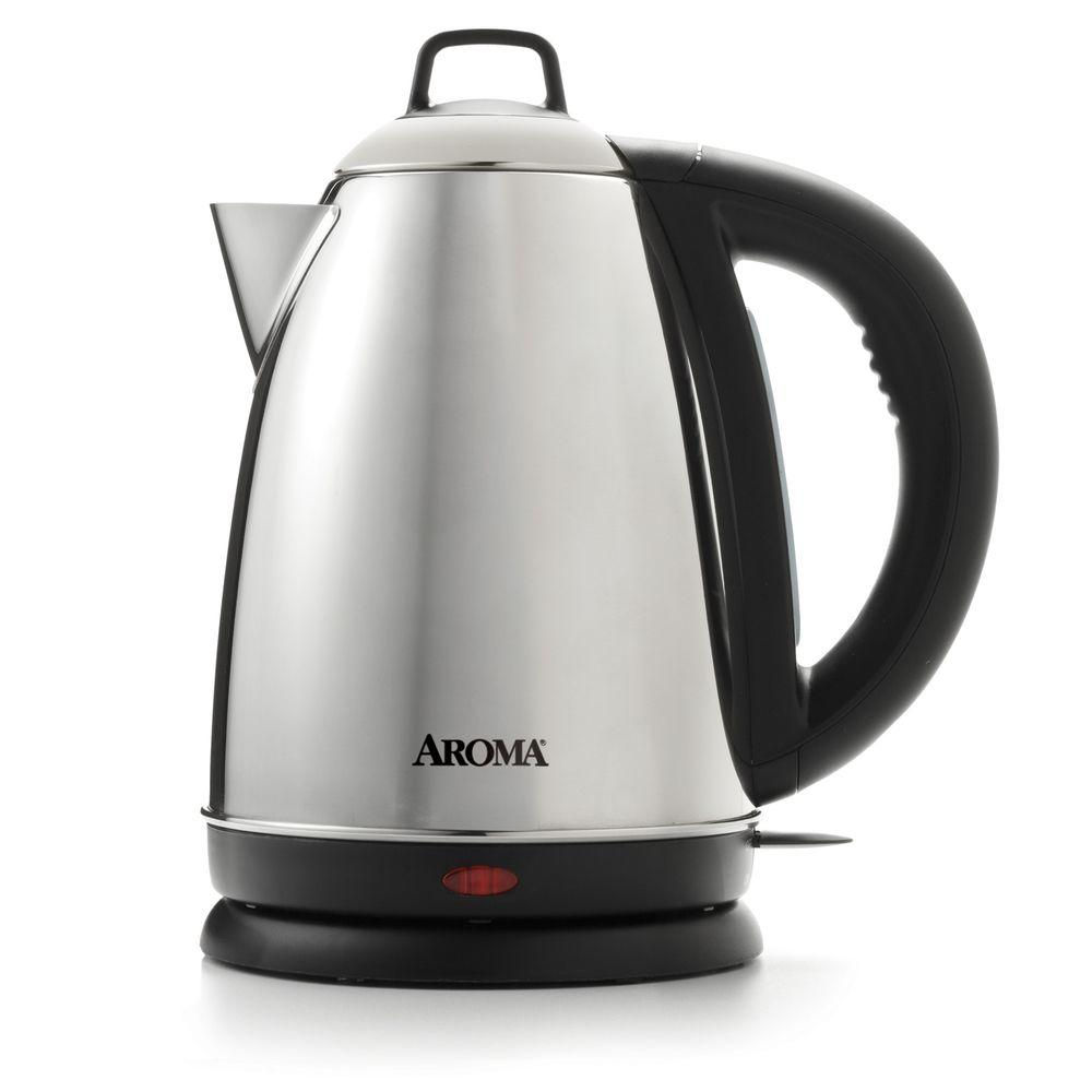Aroma 6 Cup Electric Kettle Awk 115s The Home Depot