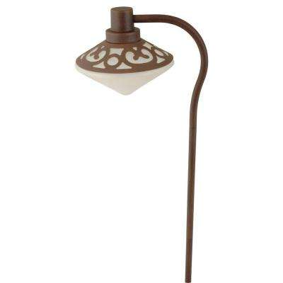 Brietta-Style Low-Voltage 7-Watt Redwood Metal Outdoor Landscape Path Light