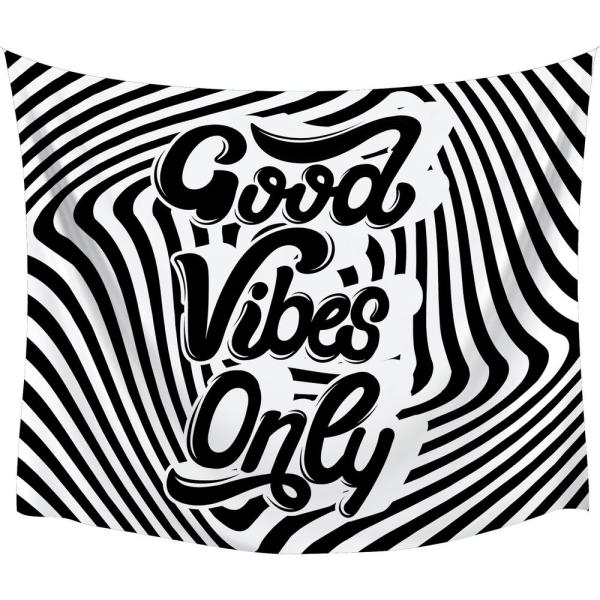 Good Vibes Swirl Large Wall Tapestry