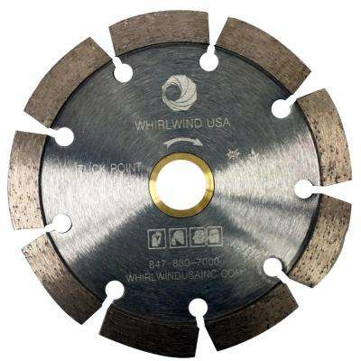 4.5 in. 9-Teeth Segmented Tuck Point Diamond Blade for Dry or Wet Cutting Concrete and Mortar