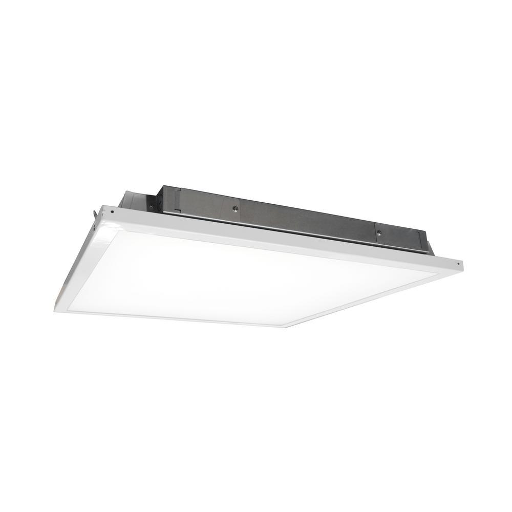 Lithonia Lighting 4 Ft 40 Watt White Integrated Led: NICOR Lighting 2 Ft. X 2 Ft. 150-Watt Equivalent White