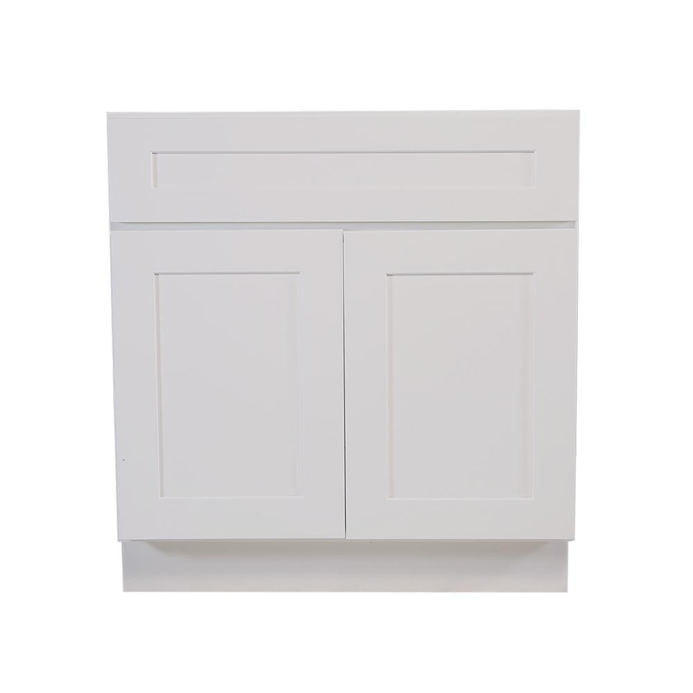 Design House Brookings Fully Assembled 48x34 5x24 In Kitchen Sink Base Cabinet In White