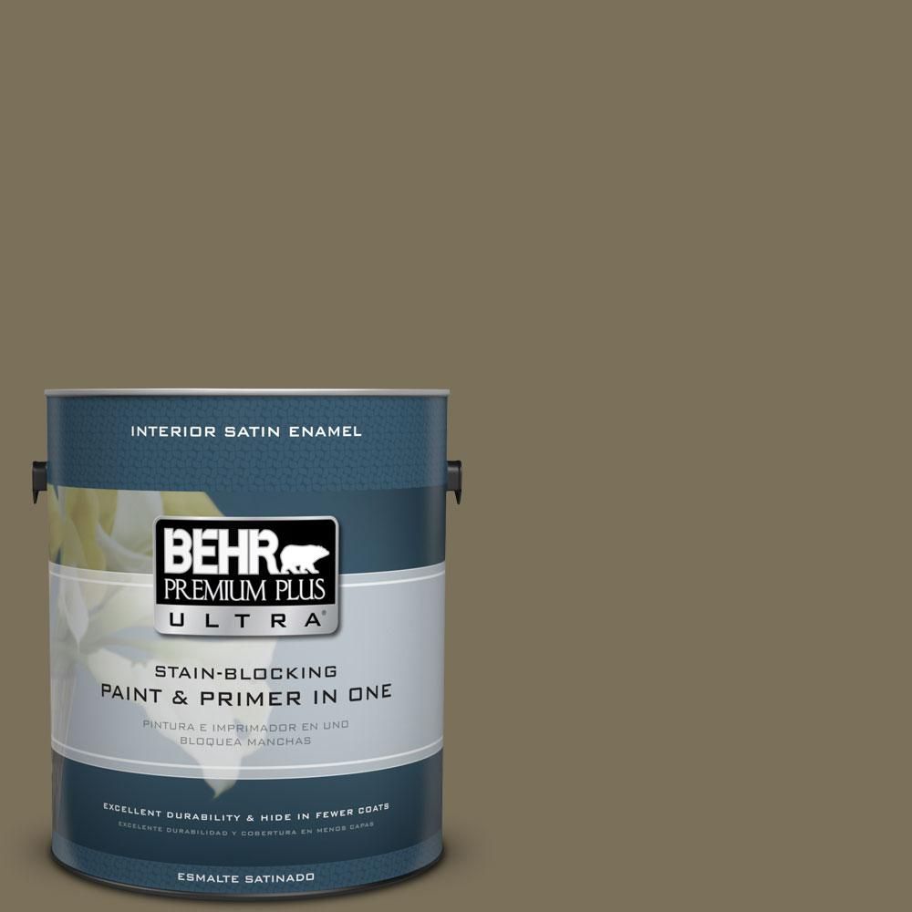 BEHR Premium Plus Ultra 1-gal. #380F-7 Crocodile Satin Enamel Interior Paint